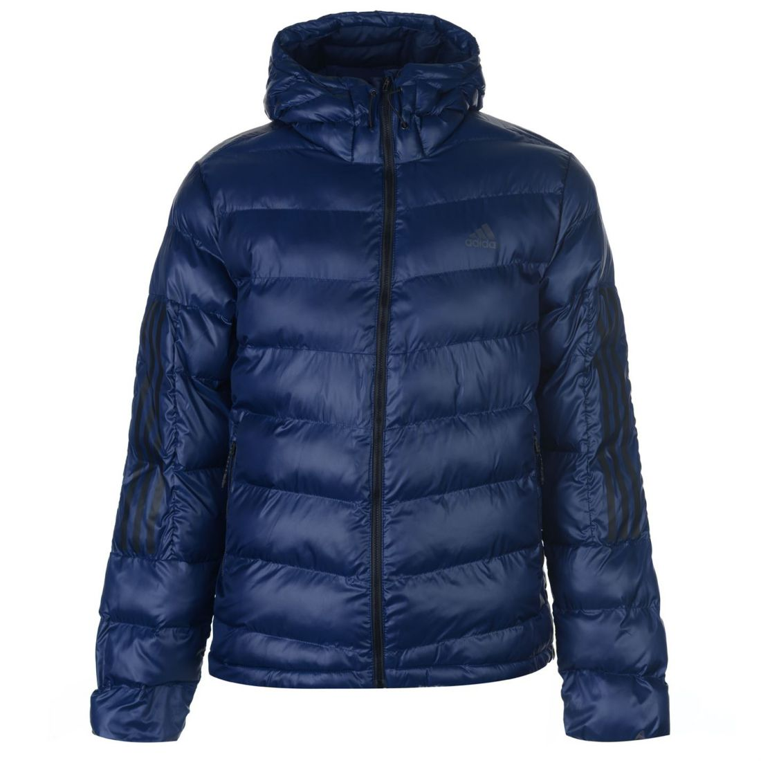 adidas Mens Itavic 3 Stripe Jacket Puffer Coat Top Long Sleeve ... 5075ce522b195