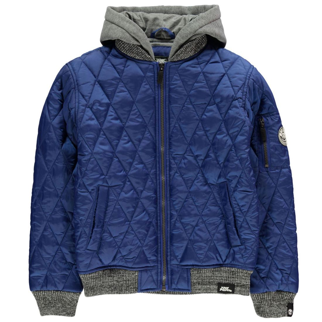 45249faa8653 No Fear Quilt Bomber Jacket Youngster Boys Quilted Coat Top Full ...