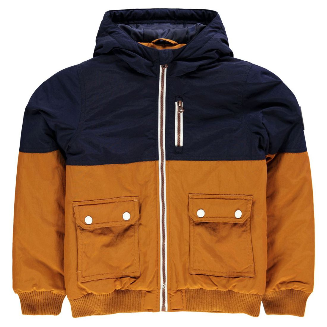 bc6fd3a5f9cf Kids Boys SoulCal Chad Panel Bomber Jacket Junior Midweight Hooded ...