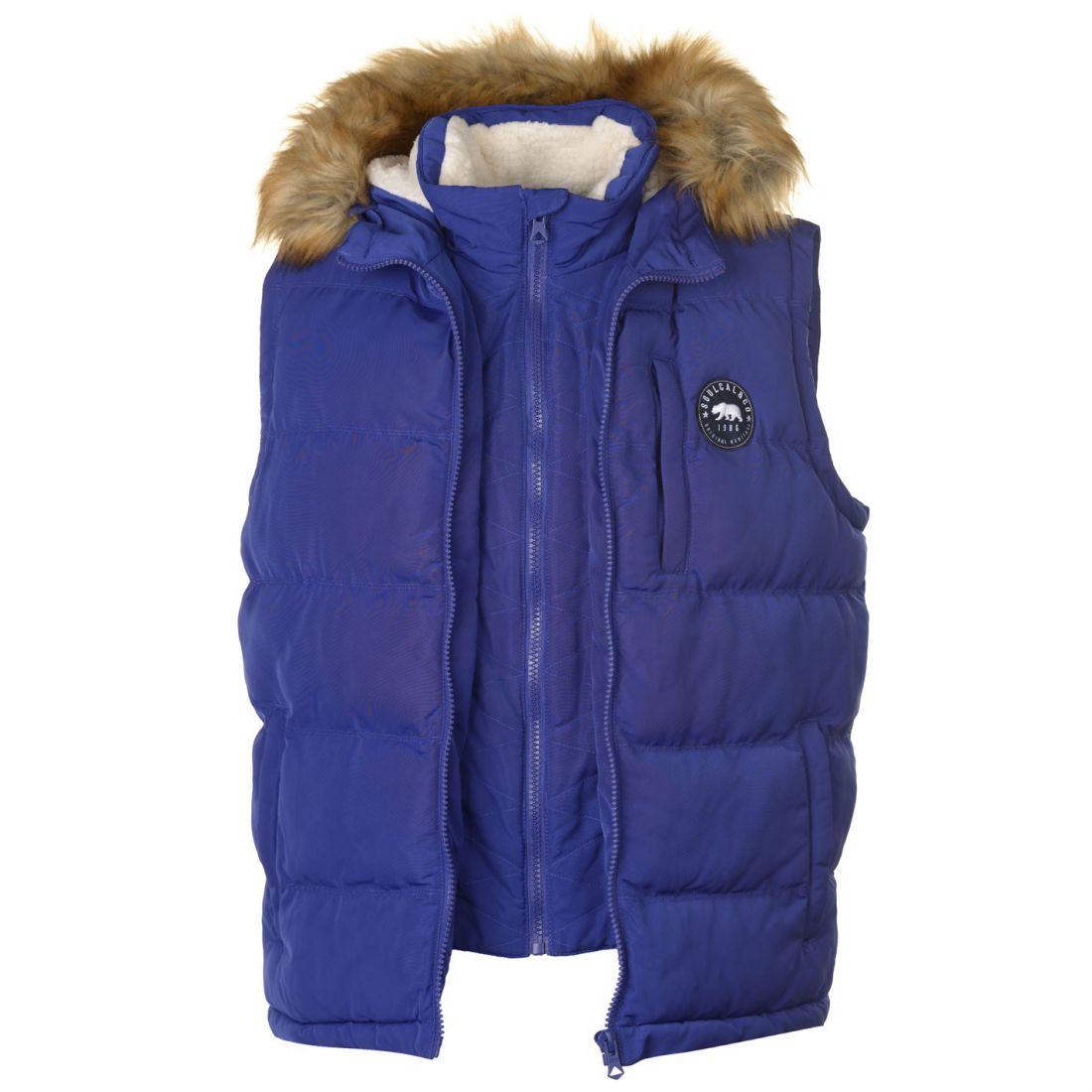 Mens SoulCal Cal 2 Zip Gilet Sleeveless New   up to 50% off