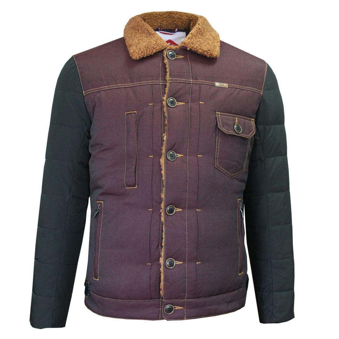 gamme complète de spécifications gamme complète de spécifications grand choix de Détails sur Lee Cooper Homme Sherpa Contraste Veste Down manteau Top-  afficher le titre d'origine
