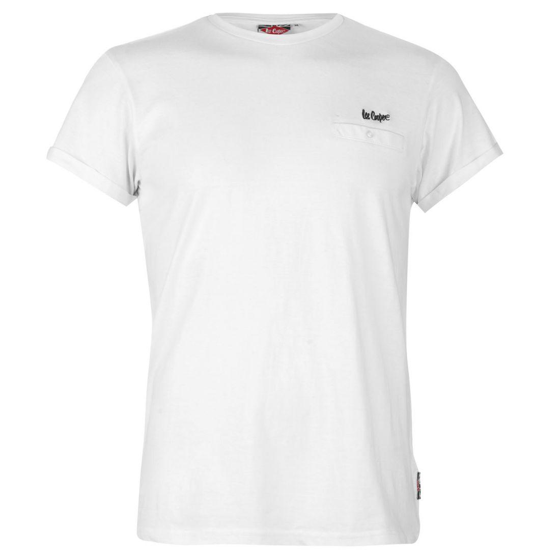 Lee Cooper Pocket T Shirt Ladies Crew Neck Tee Top Short Sleeve Cotton Chest