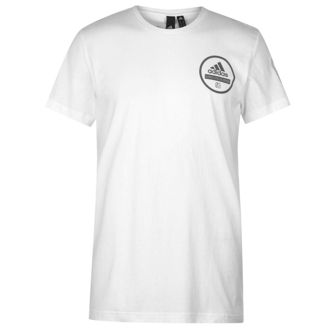 7fd8d40eb389 adidas 360 T Shirt Mens Gents Short Sleeve Performance Tee Top Crew Neck  Cotton