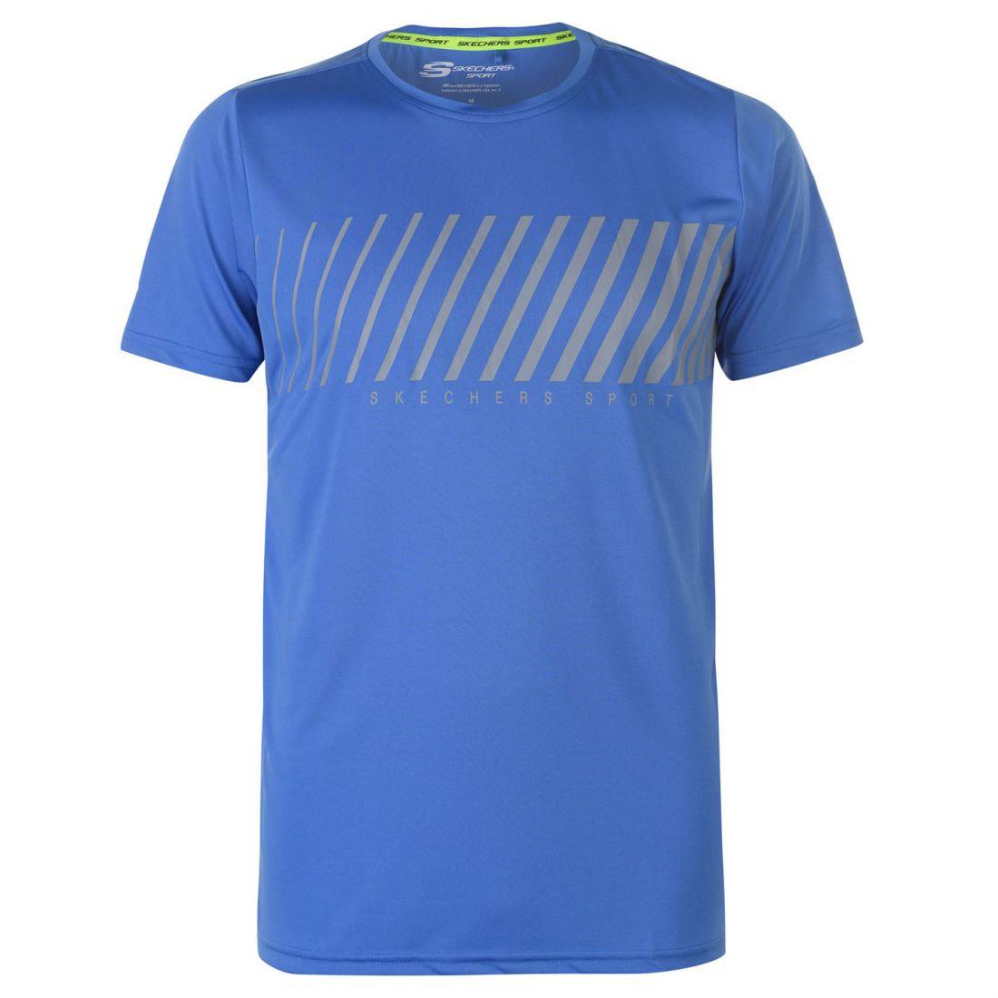 Skechers-Mens-Rendimiento-Grafico-camiseta-Manga-Corta-Camiseta-Top-Cuello-Redondo miniatura 11