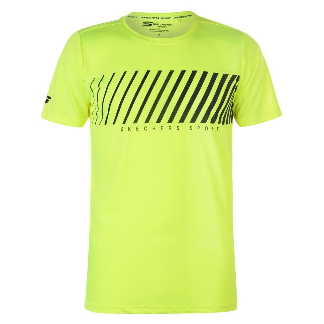 Skechers-Mens-Rendimiento-Grafico-camiseta-Manga-Corta-Camiseta-Top-Cuello-Redondo miniatura 14