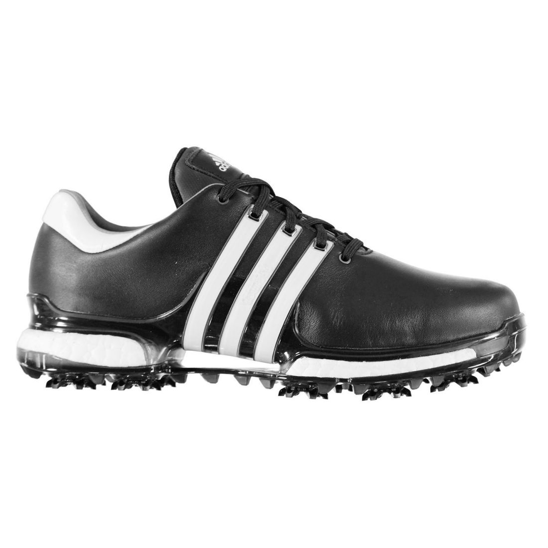 info for 7f7ab 8833d adidas Mens Tour 360 Boost Golf Shoes Spiked Lace Up Padded Ankle Collar  Studs