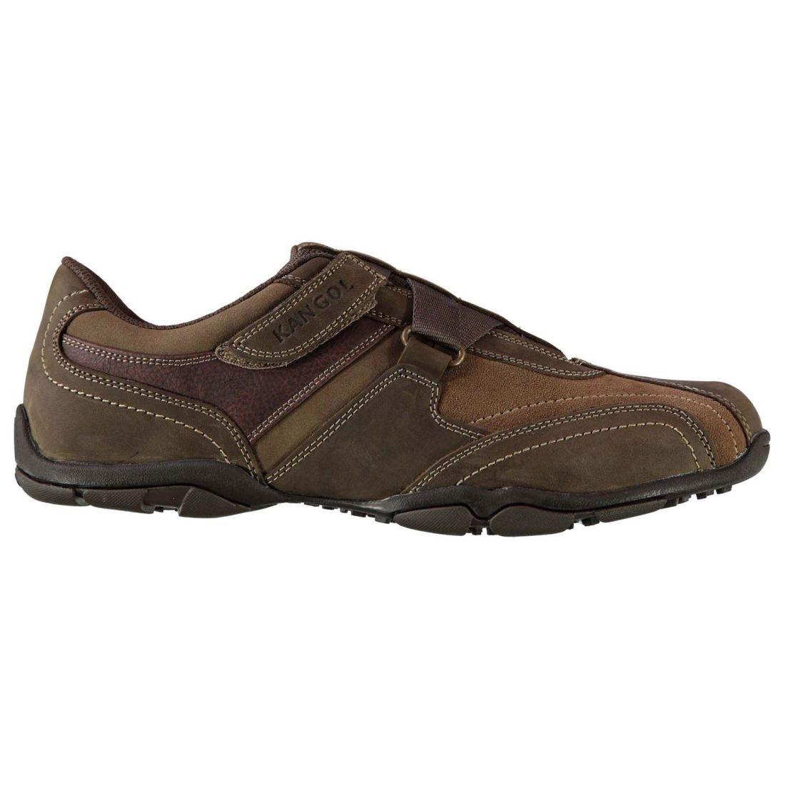 Kangol Mens Oahu shoes Casual Hook and Loop Leather Upper Memory Foam