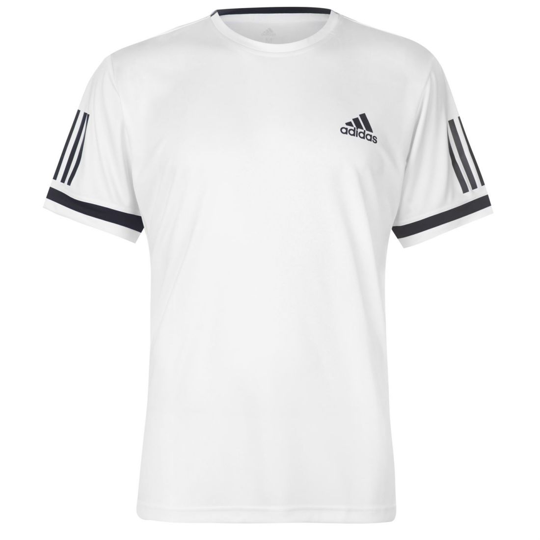 Details about adidas Mens Club 3 Stripes T Shirt Short Sleeve Performance Tee Top Crew Neck