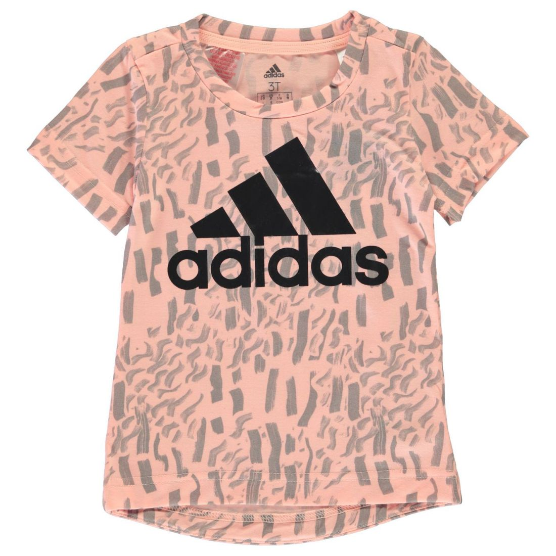 acb614ee adidas Kids Girls Badge Of Sport T Shirt Short Sleeve Performance ...