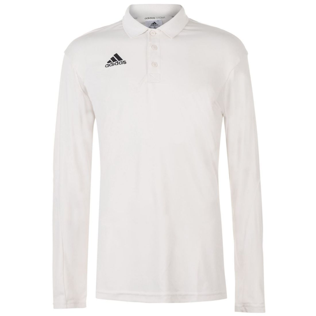 22a30aba adidas Mens Howzat Long Sleeve Polo Cricket Shirt T Top Breathable  Lightweight