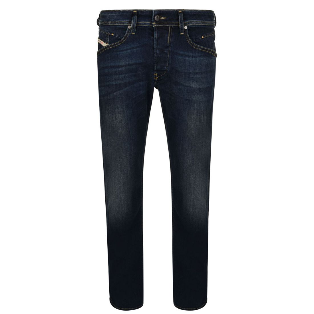 Mens Diesel Tapered Jeans Distressed New