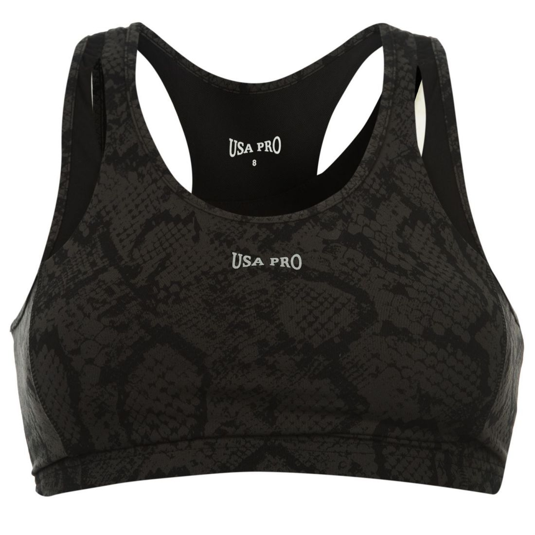 18fc587ef2 USA Pro Womens Ladies Medium Sports Bra Training Crop Tops T Shirt ...