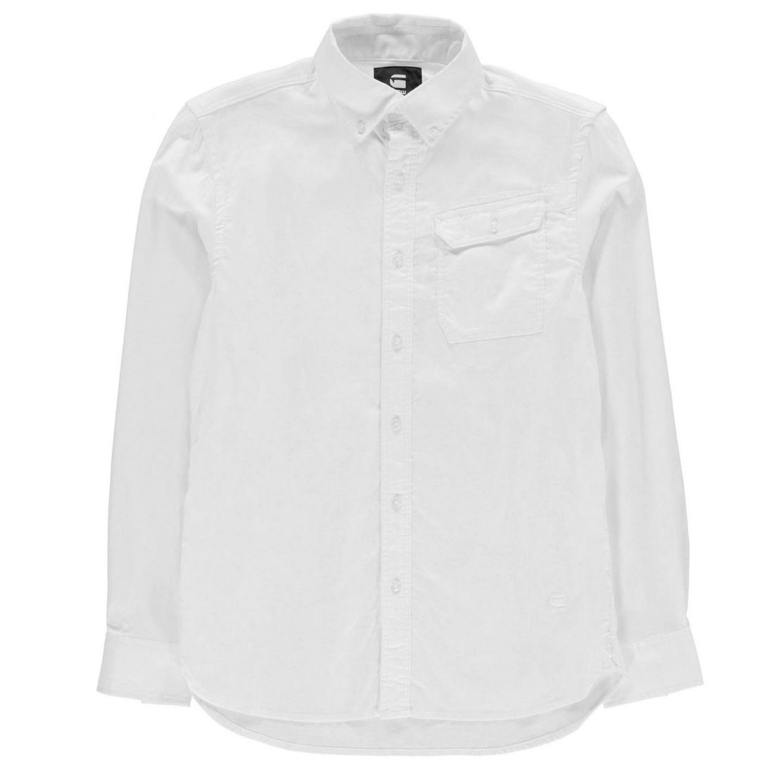 89eecb3872 Details about G Star Mens Oxford Button Down Long Sleeve Shirt Casual Tonal  Stitching Fold