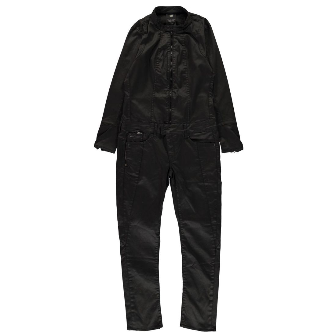 6c85a5767d8 G Star Womens Lynn Jet Jumpsuit Long Sleeve Zip Tonal Stitching ...