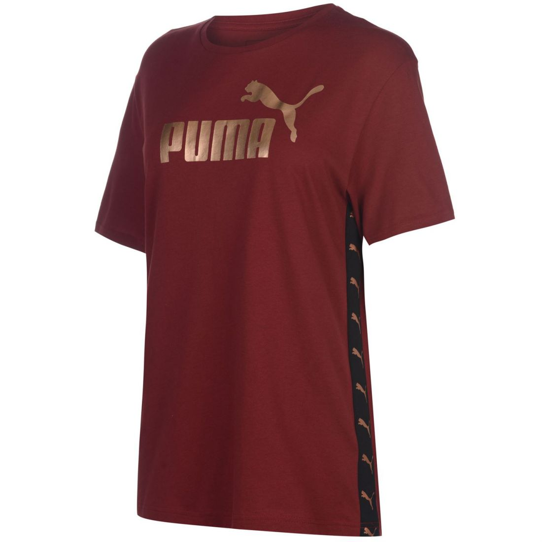fb67480d7d95 Puma Boyfriend Logo T Shirt Ladies Crew Neck Tee Top Short Sleeve ...