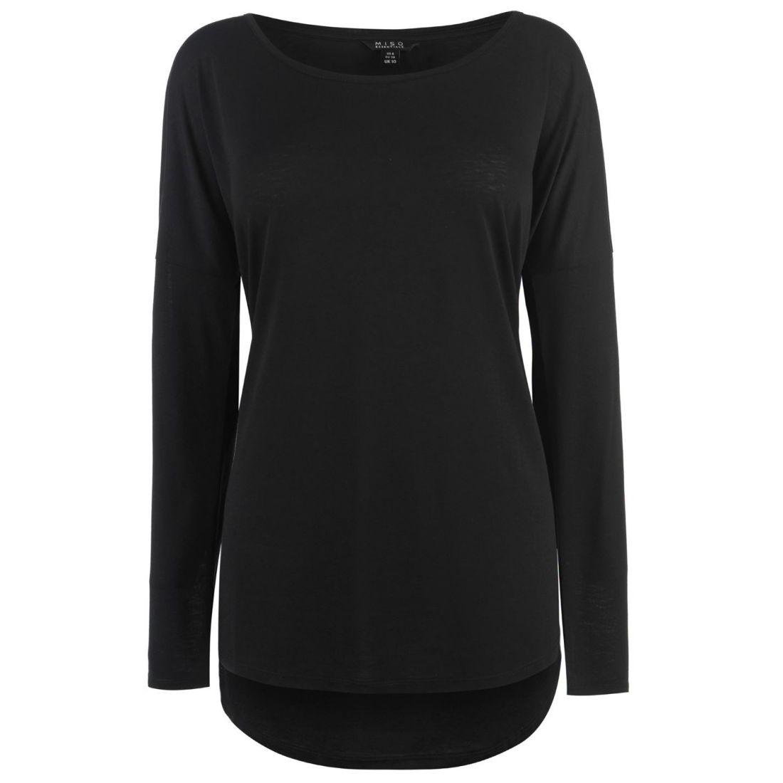 8304cb4b6de6f9 Miso Womens Long Length Shirt Sleeve Scoop Neck Loose Fit | eBay