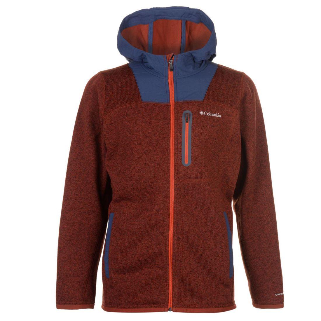 Heren Zip Fleece Aspect Rits Sweatshirt met Jumper Columbia Burgundy Getailleerd qE868R