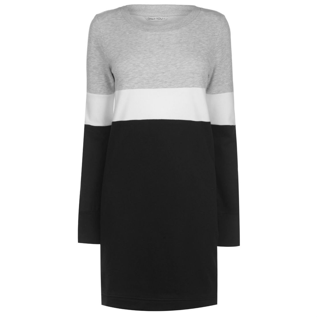 234a4eae2203 Image is loading Only-Womens-Dorit-Jumper-Dress-Crew-Sweater-Pullover-