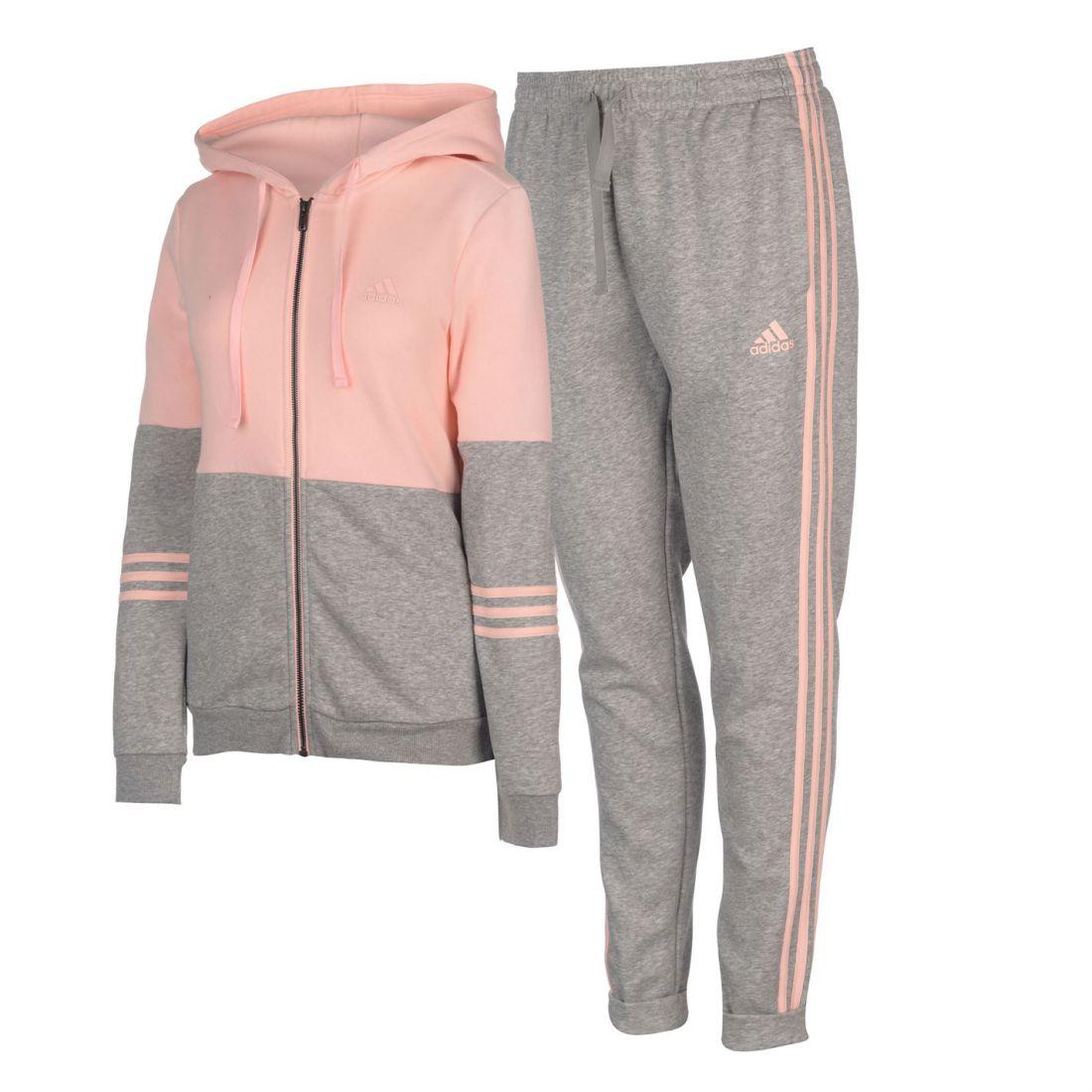 16d15f713c5 Image is loading adidas-Energize-Tracksuit-Ladies-Fleece-Full-Length-Sleeve-