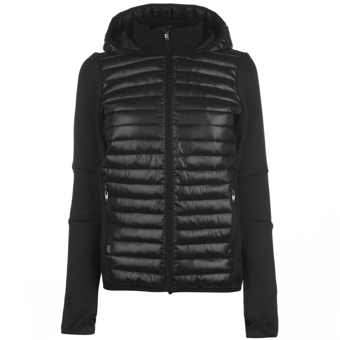 b343b51ae USA Pro Womens Hybrid Jacket Puffer Coat Top Lightweight Hooded Zip ...