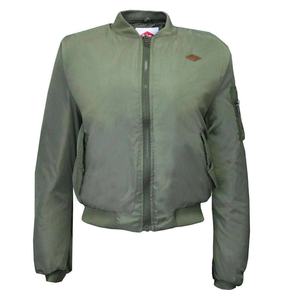 3e17a0510c3 Lee Cooper Bomber Jacket Ladies - Midweight Coat Top Zip Zipped