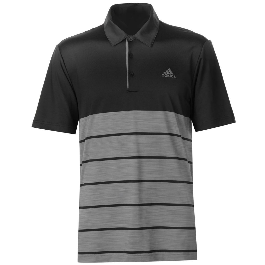 86a54132 Image is loading adidas-Ultimate-365-Heather-Block-Polo-Shirt-Mens-