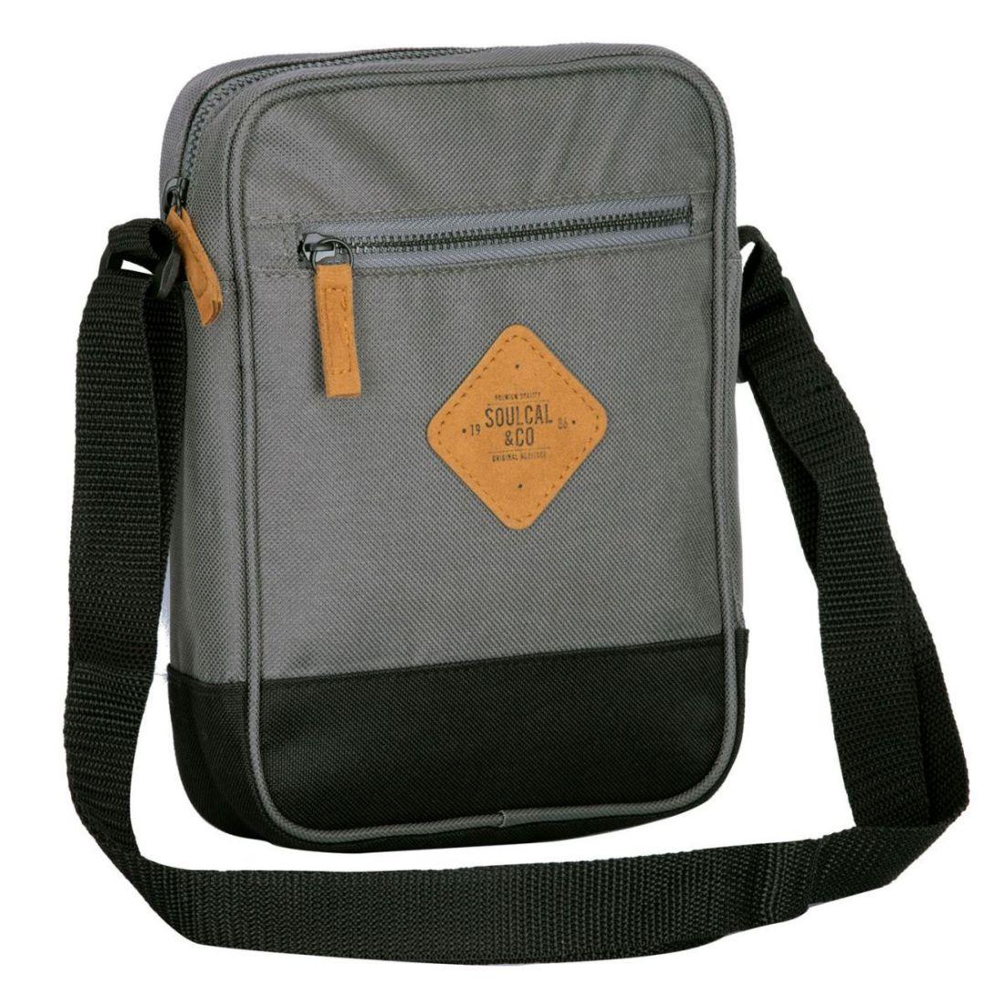 Unisex-SoulCal-Mini-Gadget-Bag-Zip-New