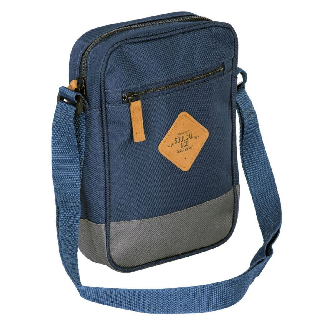 Unisex-SoulCal-Mini-Gadget-Bag-Zip-New thumbnail 2