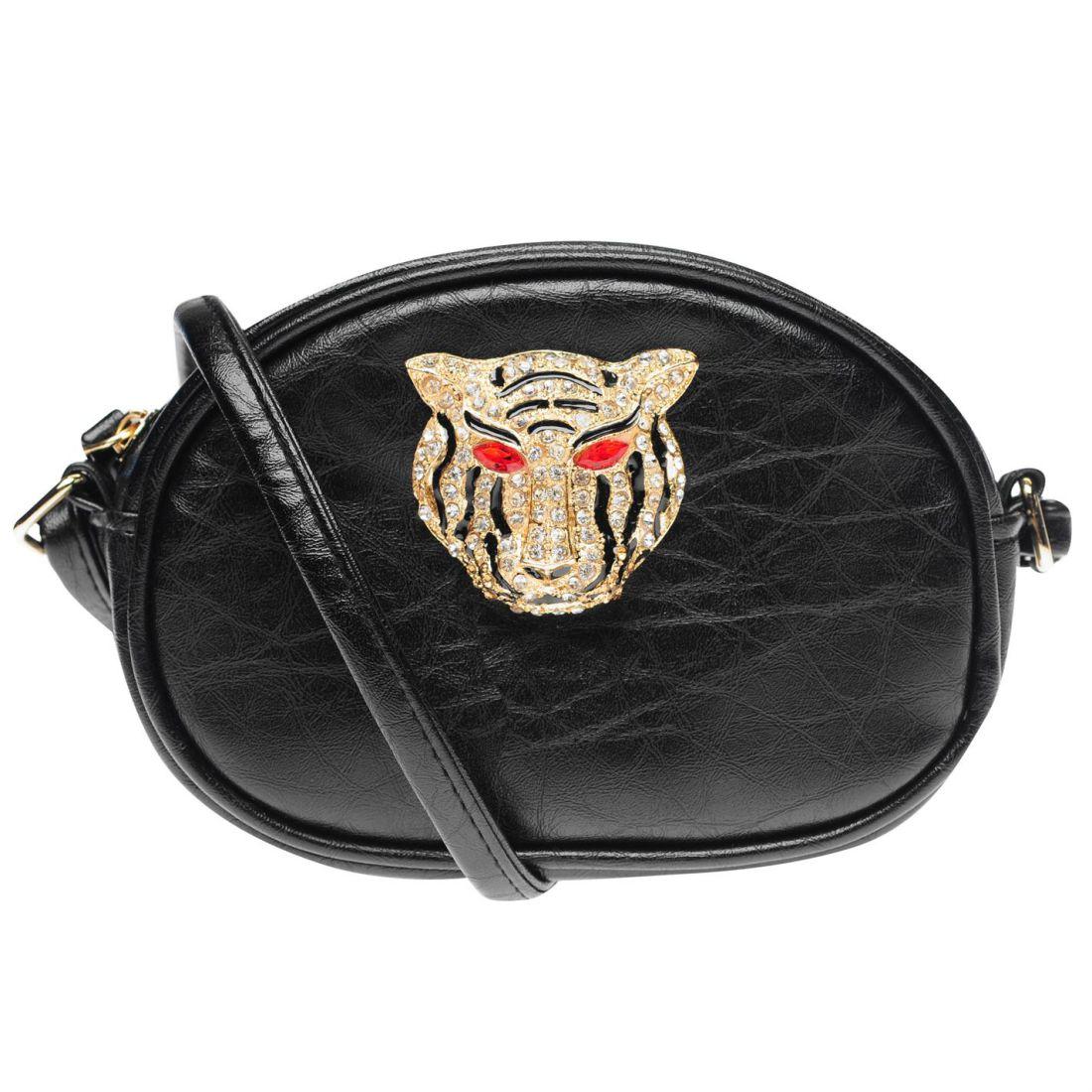 Womens-Glamorous-Lion-Shoulder-Bag-Zip-New