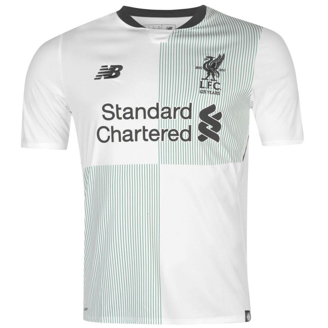 New Balance Mens Gents Liverpool Away Shirt 2017 2018 Sport Clothing