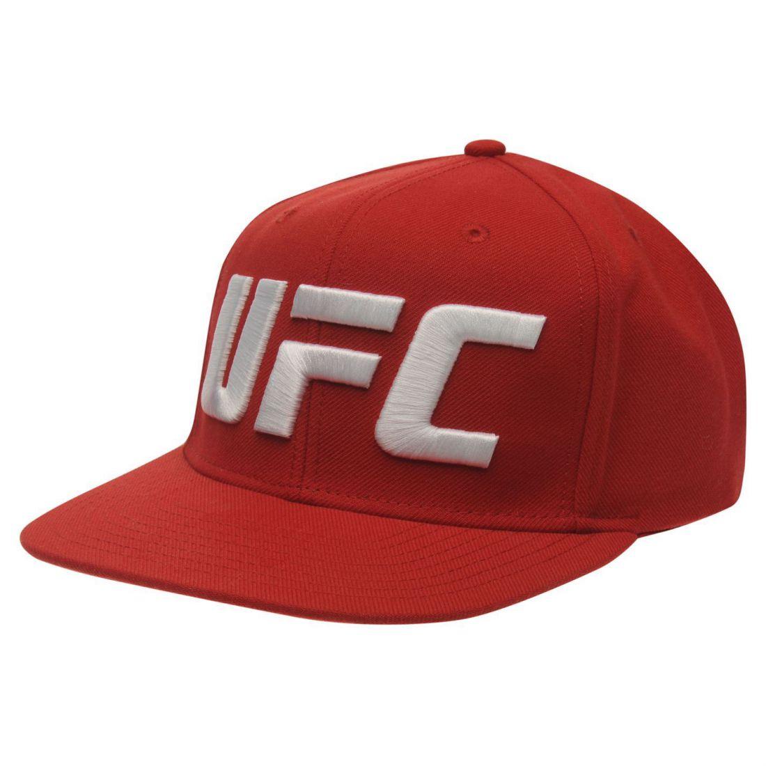 0f8051481 Reebok Mens UFC Design Baseball Cap Snapback Hat Flat Peak