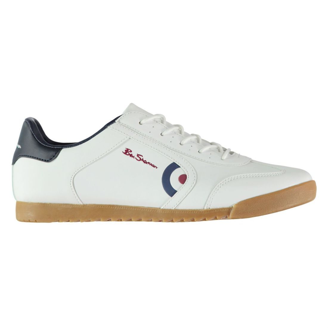 4e7ff61b Details about Ben Sherman Target Sneakers Mens Gents Low Laces Fastened  Padded Ankle Collar