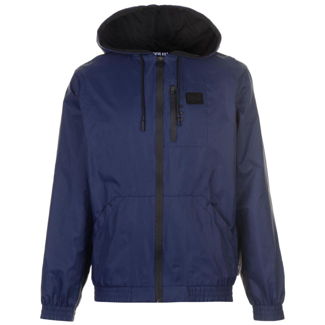 Men's Clothing Coats & Jackets Everlast Geo Rain Jacket Mens Black Uk Mens Size L