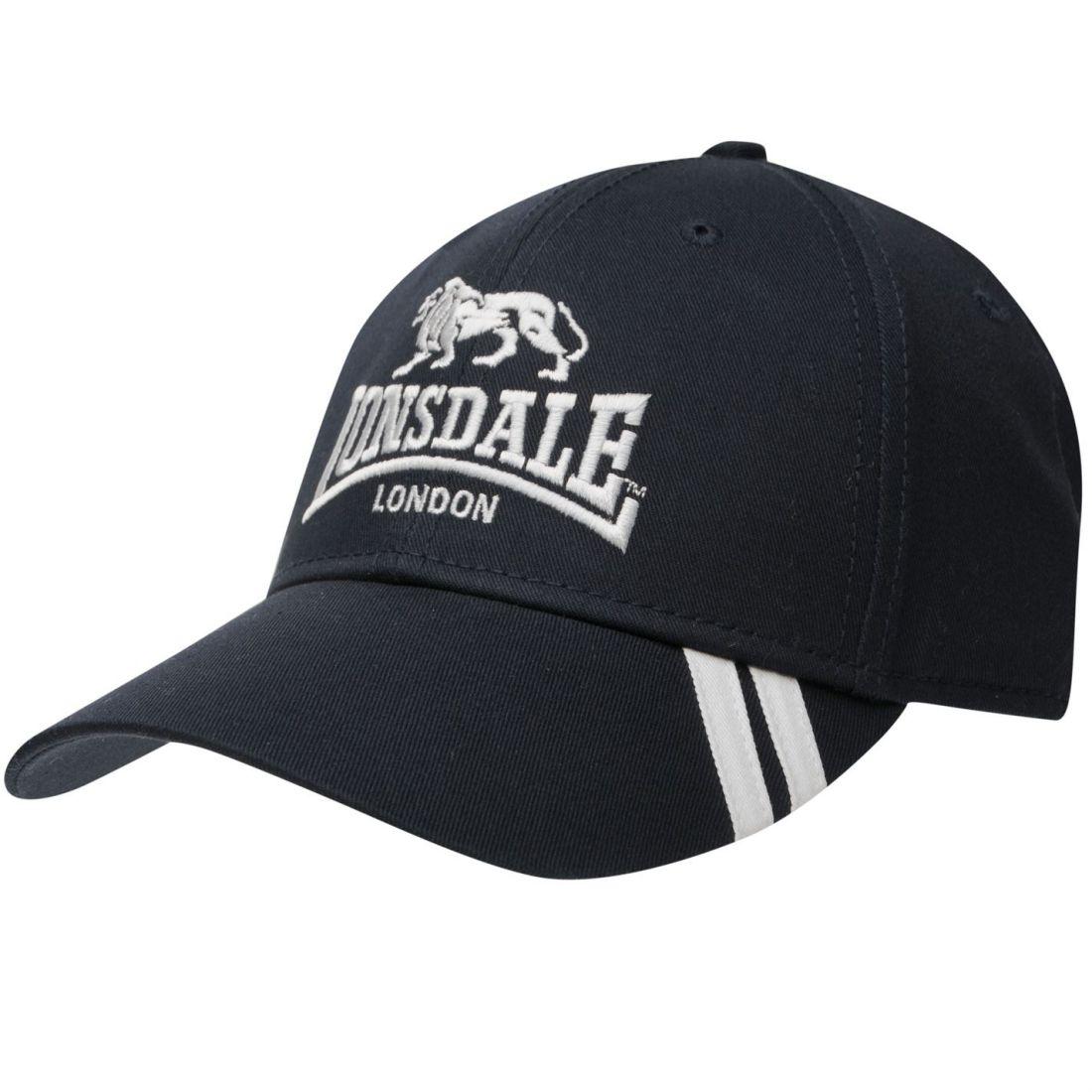 Lonsdale 2 Stripe Cap 84 Mens Gents Baseball  b42cd606eb1