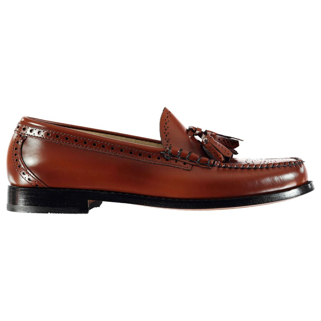 Image is loading Mens-Bass-Weejuns-Larkin-Brogue-Brogues-Slip-On- 8bbcf1155