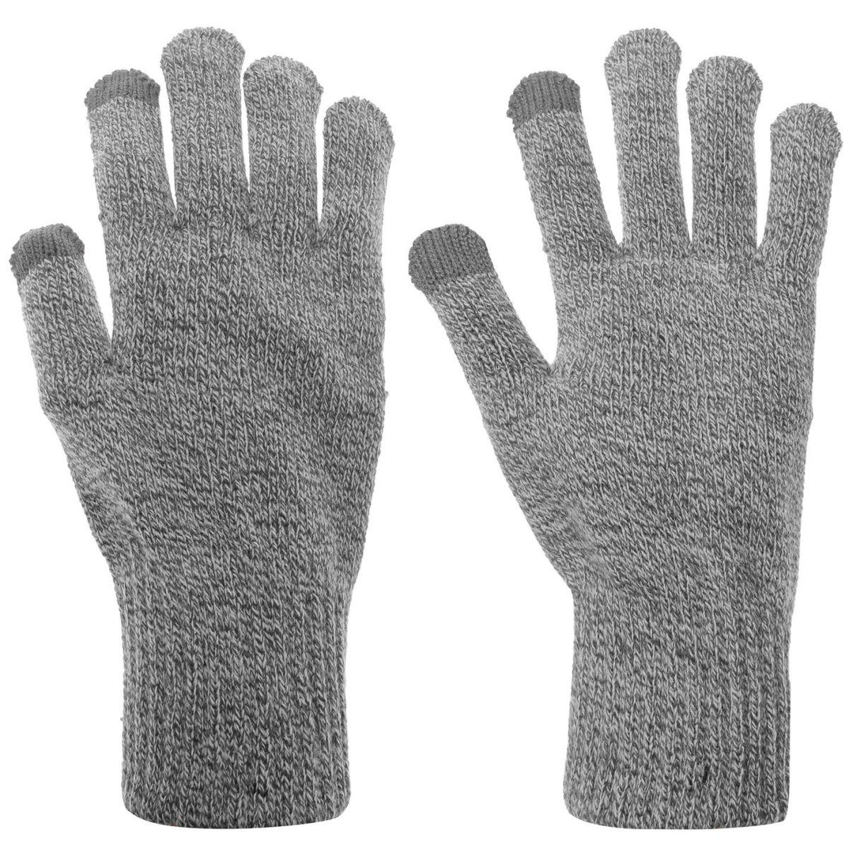 Mens-Jack-and-Jones-Melange-Gloves-Knitted-New