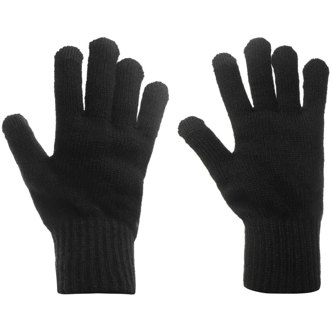 Mens-Jack-and-Jones-Melange-Gloves-Knitted-New thumbnail 2