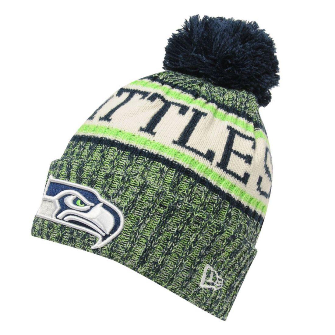 Mens New Era NFL Bobble Hat Tonal Stitching New  c108a32cc9e