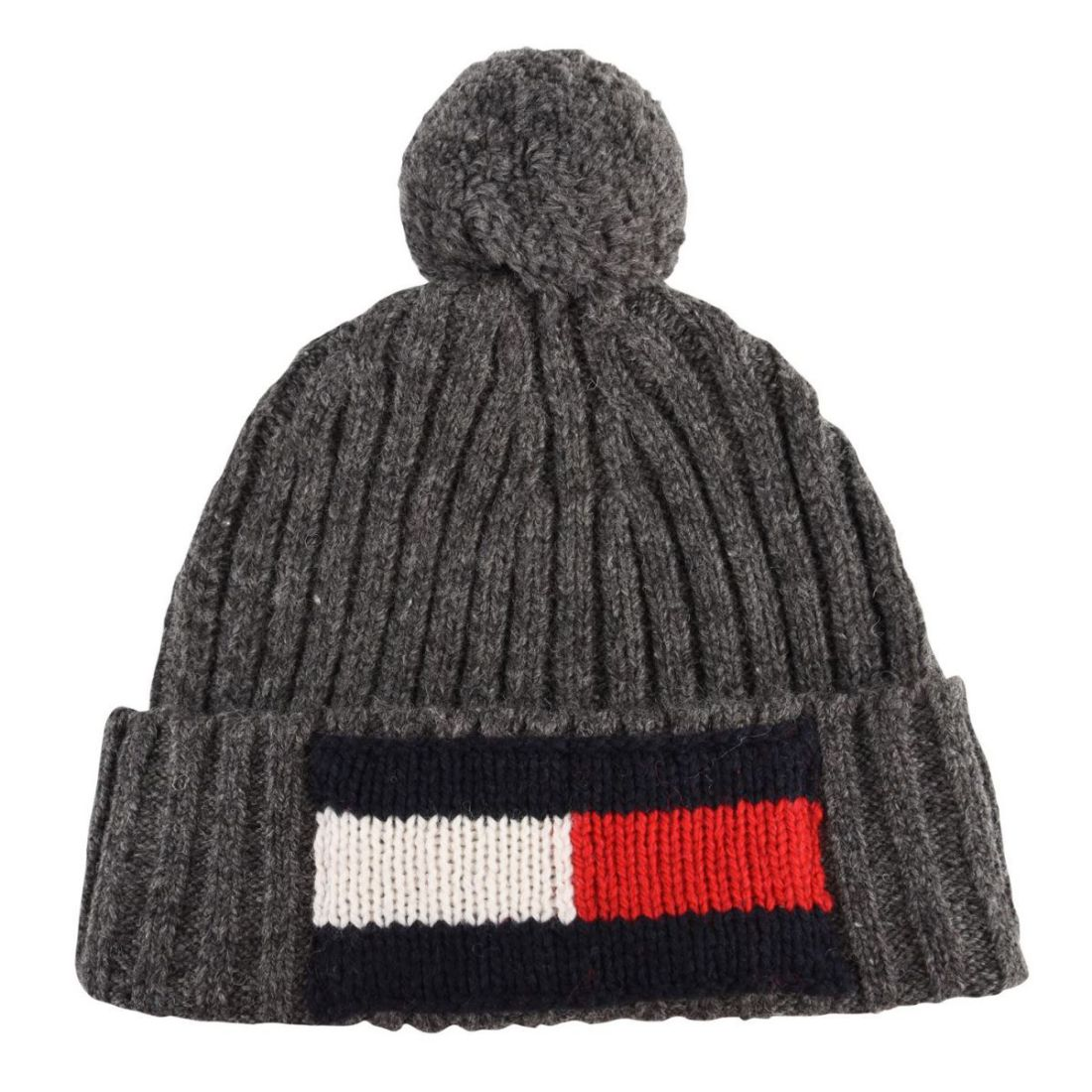 Image is loading Mens-Bobble-Hat-Tommy-Hilfiger-Logo-Pompom-Winter- 0653ee24445