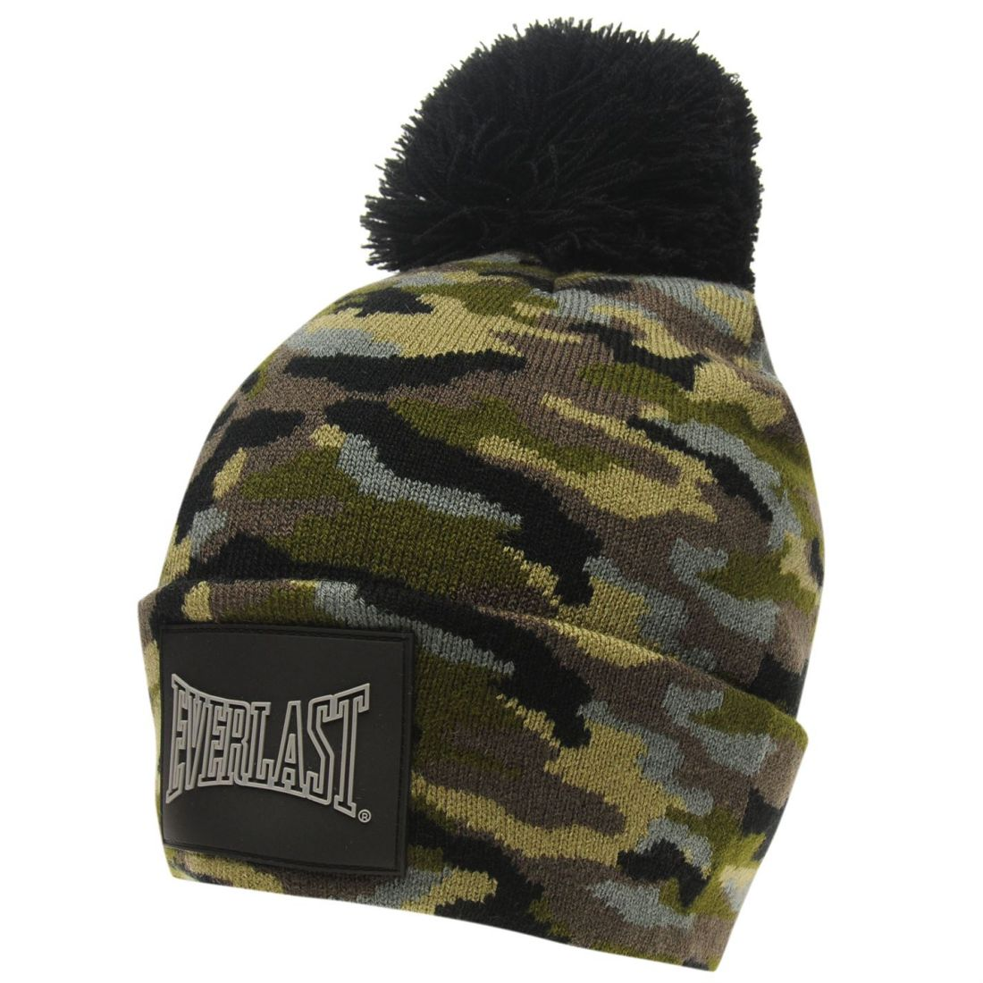 74f7603a86069 Everlast Mens Pom Beanie Bobble Hat Silicone Knitted 5059031133589 ...