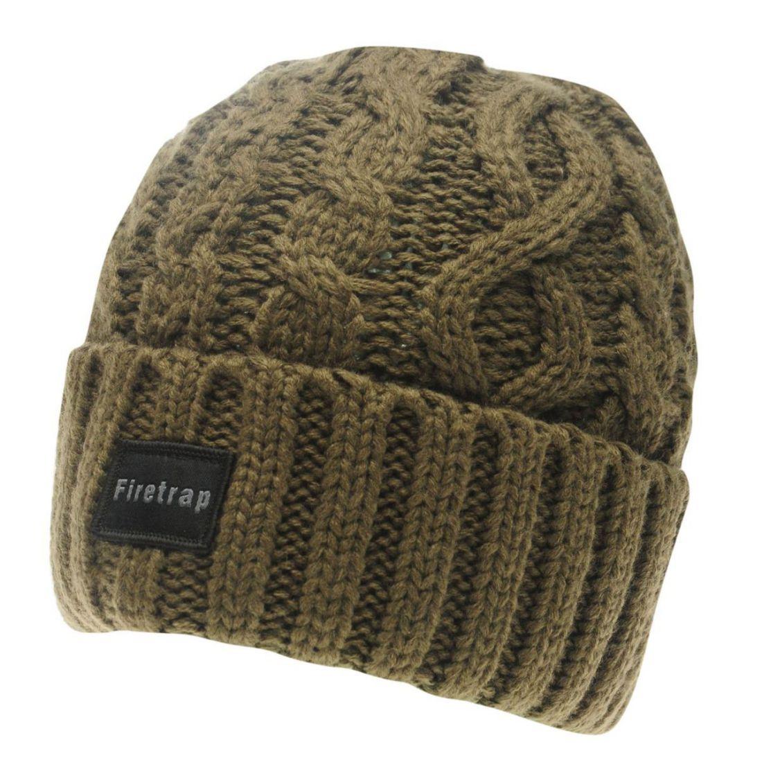 Firetrap Fisherman Hat Mens Gents Beanie Warm Knitwear