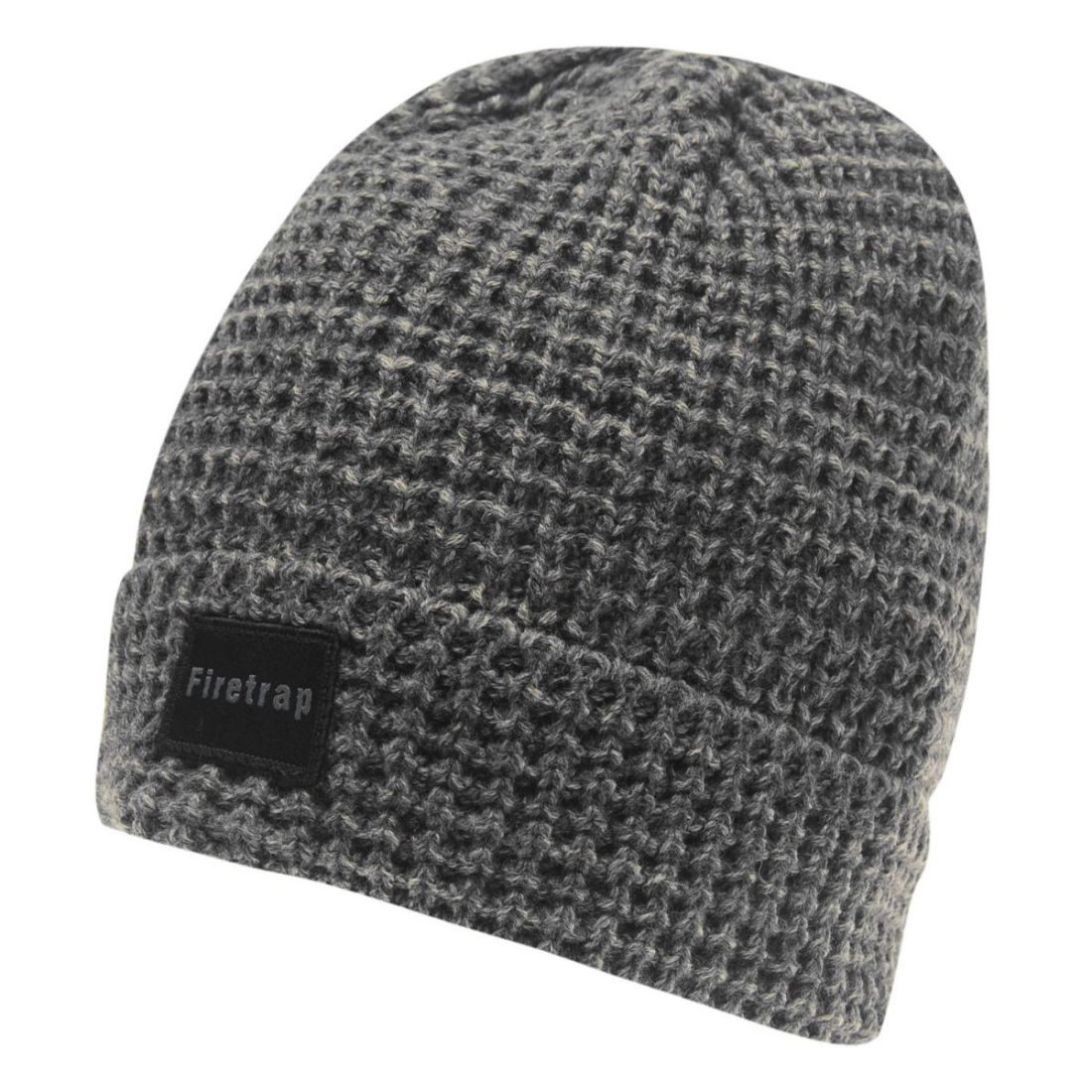 Details about Mens Firetrap Cable Knit Beanie Hat Winter New 67823402b64