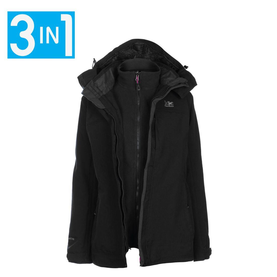 280801cd19 Karrimor Womens 3in1 Jacket Coat Top Ladies Hooded Fleece Mesh ...