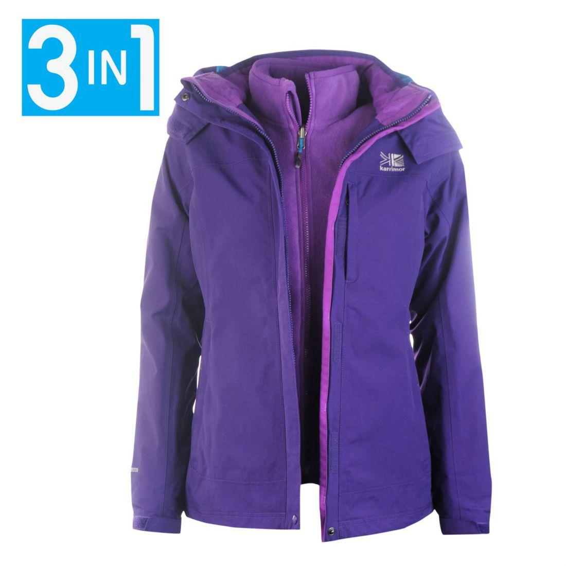 74e7e7760ecd Karrimor Womens 3in1 Jacket Coat Top Ladies Hooded Fleece Mesh ...