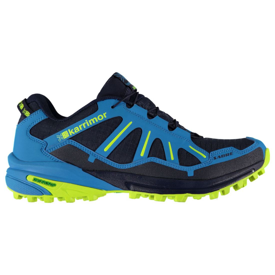 e788fa4e1e40c Karrimor Mens Sabre Trail Running Shoes Textile Padded Ankle Collar Quick  Lacing