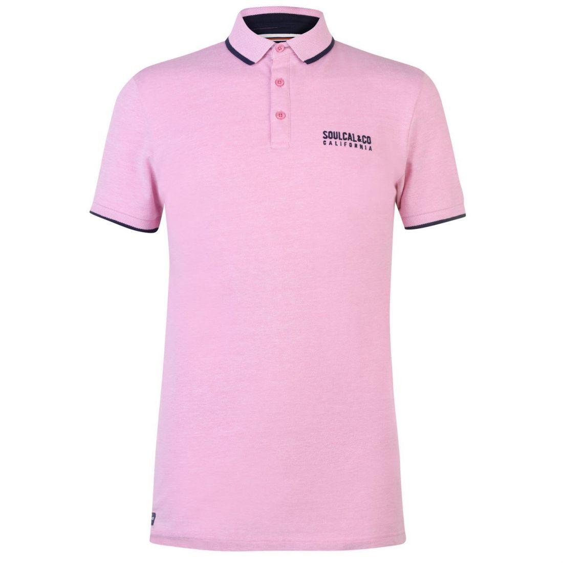 c026b5d1a SoulCal Mens Pique Polo Shirt Classic Fit Tee Top Short Sleeve ...