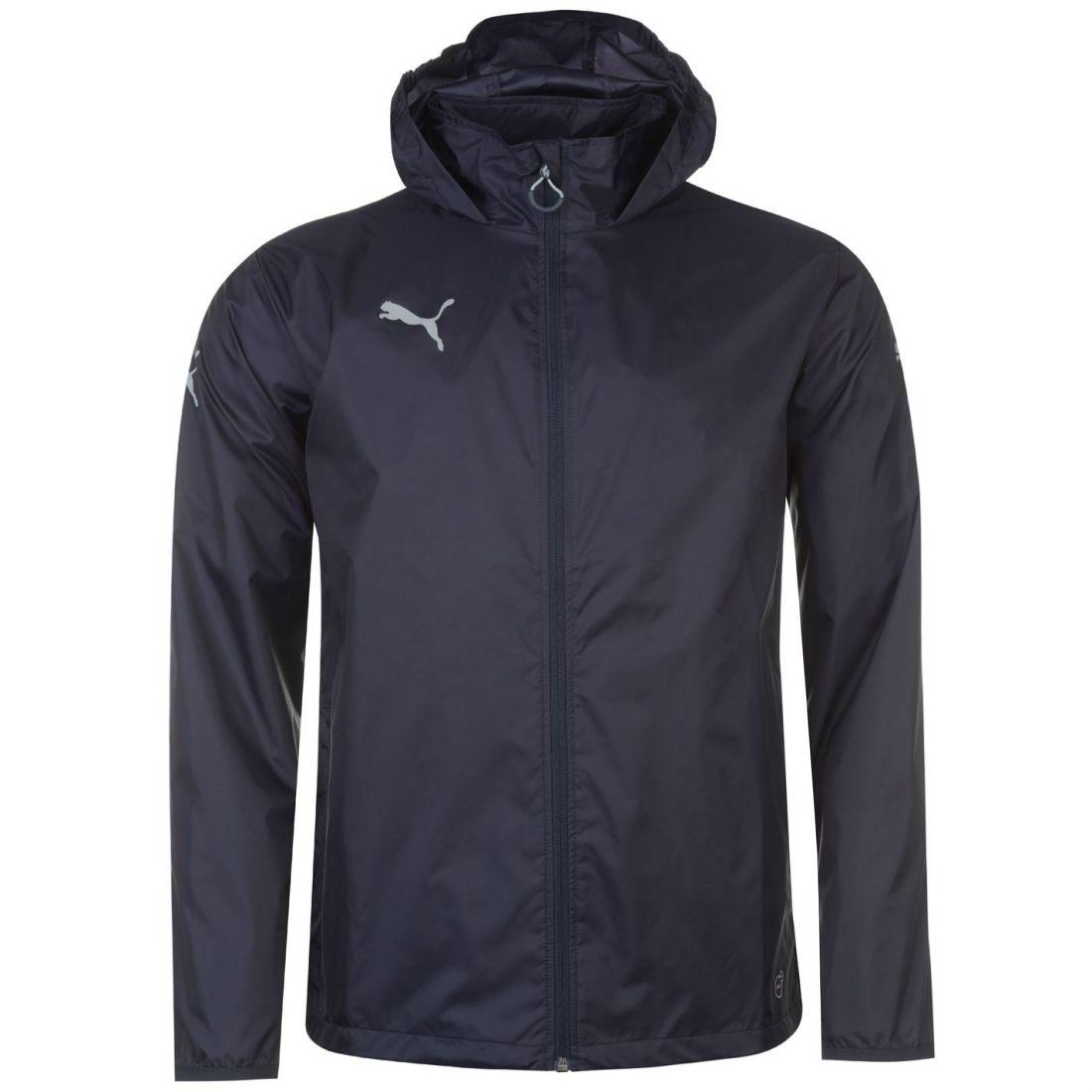 bea4f08ce952 Puma Mens Essential Rain Jacket Coat Top Breathable Hooded Zip Full ...