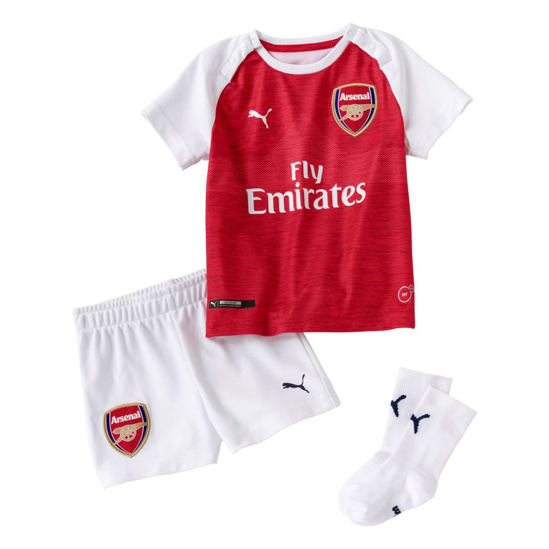 071f7a926 Puma Kids Boys Arsenal Home Baby kit 2018 2019 Domestic Minikits ...