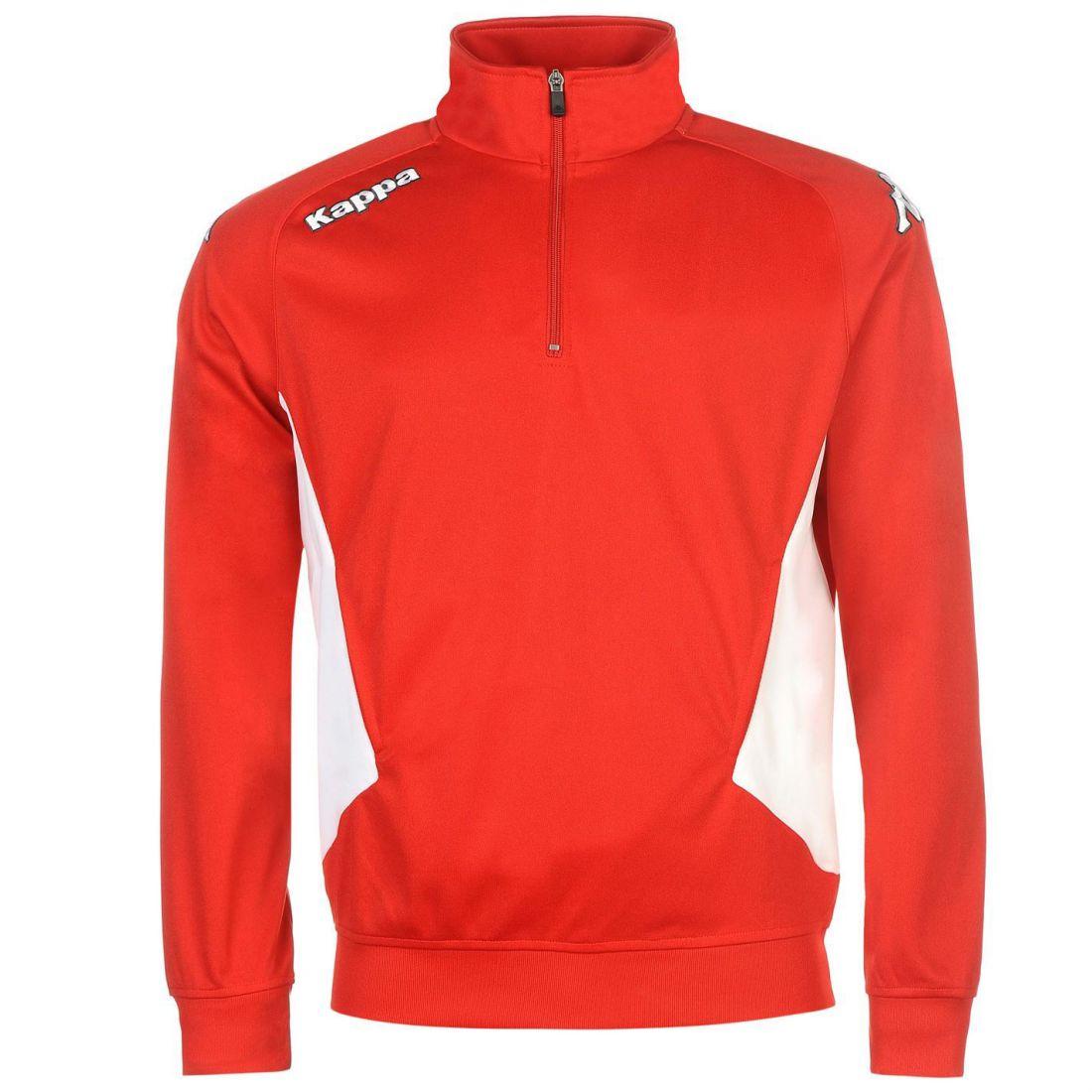 Details about Kappa Mens Foligno Sweater Jumper Pullover Football High Neck  Print Quarter Zip 36d3abe7a