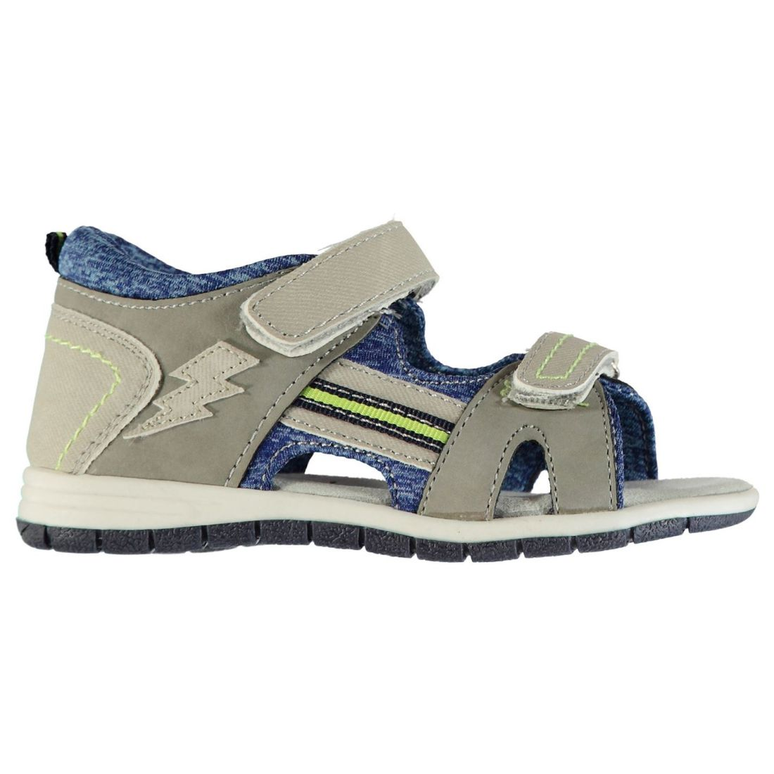63b89e62a412 SoulCal Two Stripe Trek Sandals Infants Boys Flat Strap Touch and ...